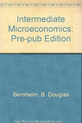 9780077211998: Intermediate Microeconomics Pre-Pub Edition