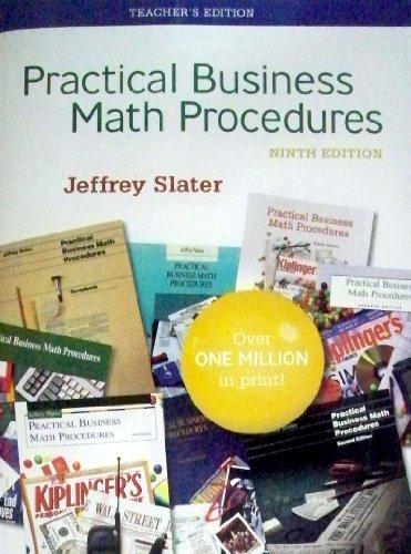 9780077214142: Practical Business Math Procedures, 9th Edition, Teacher's Edition