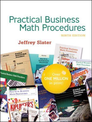 9780077214562: PRACTICAL BUS MATH PROCEDURES With Student DVD, WSJinsert,BMathHandbook