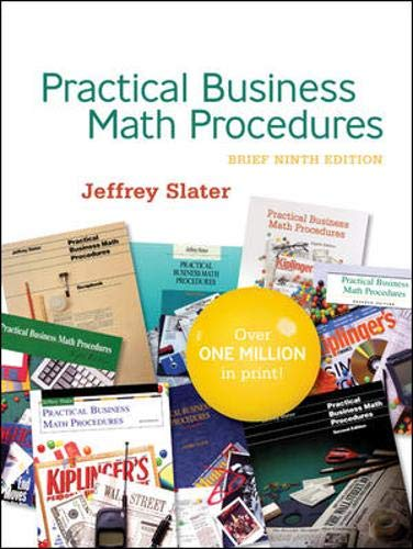9780077214579: Practical Business Math Procedures Brief Edition with Student DVD, wsjinsert,BuMath Handbook
