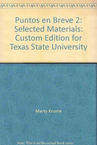 Puntos en Breve 2: Selected Materials: Custom: Marty Knorre