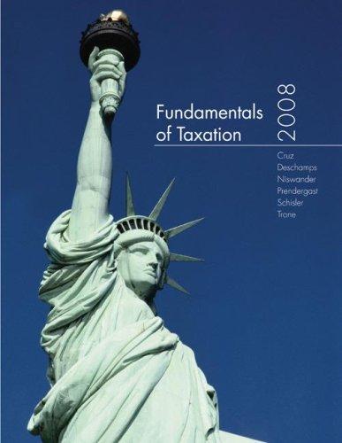 9780077217969: Fundamentals of Taxation 2008 edition w/TaxACT 2007
