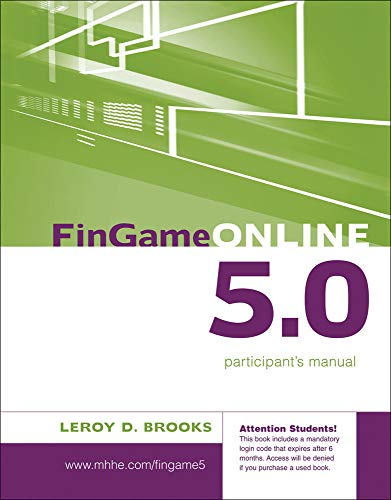 9780077219888: FinGame 5.0 Participant's Manual with Registration Code (Mcgraw-Hill/Irwin Series in Finance, Insurance and Real Estate)