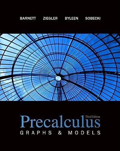 9780077221294: Precalculus: Graphs and Models (Collegiate Math)
