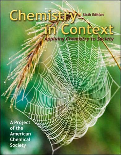 9780077221348: Chemistry in Context: Applying Chemistry to Society