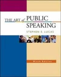 9780077225056: The Art of Public Speaking Ninth Edition