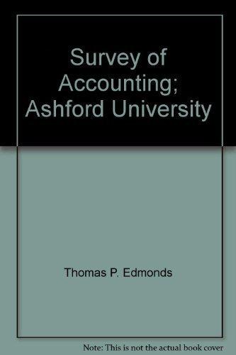 9780077225254: Survey of Accounting; Ashford University
