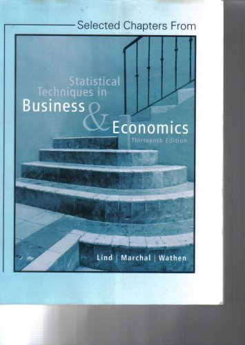 9780077229108: Statistical Techniques in Business & Economics, 13th Edition
