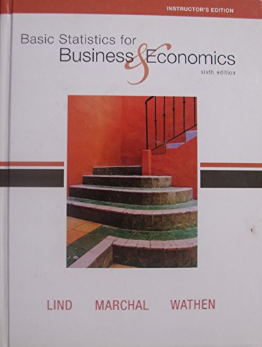 9780077230784: Basic Statistics for Business & Economics 6th Edition (Instructor's Edition)