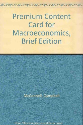 9780077231033: Premium Content Card for Macroeconomics, Brief Edition