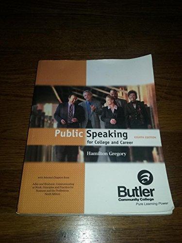 9780077235468: Public Speaking Special Editon for Butler Community College
