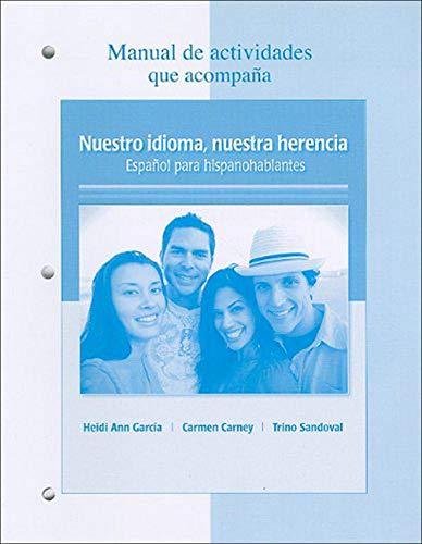 Manual de actividades t/a Nuestro idioma, nuestra: GARCIA