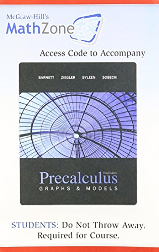 MathZone Student Access Card t/a Precalculus: Graphs and Models (9780077237370) by [???]