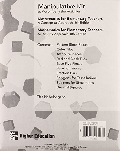 9780077237523: Manipulative Kit Mathematics for Elementary Teachers