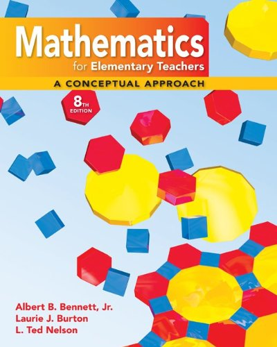 9780077237530: Student's Solutions Manual to accompany Mathematics for Elementary Teachers, A Conceptual Approach