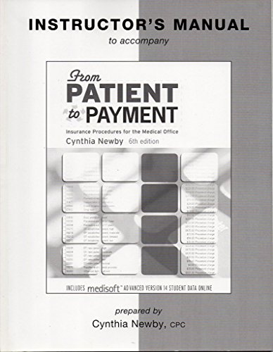 From Patient to Payment Insurance Procedures for: newby, cynthia cpc