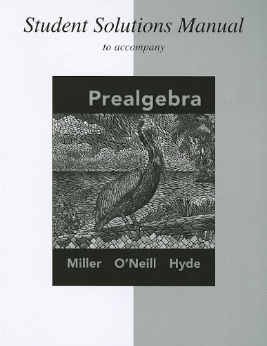 Student Solutions Manual for Prealgebra: Julie Miller, Molly