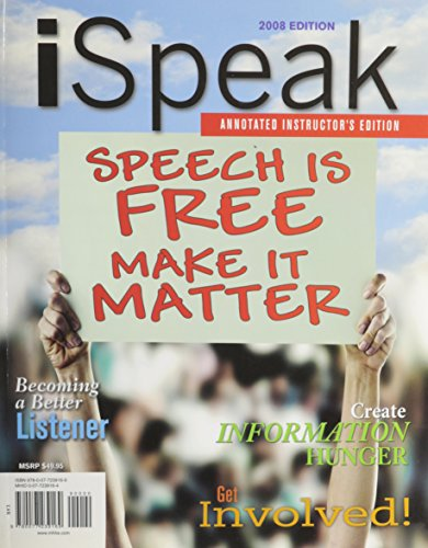 9780077239169: iSpeak: Public Speaking for Contemporary Life:  Annotated Instructors Edition