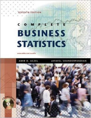 9780077239695: Complete Business Statistics with Student CD (The Mcgraw-Hill/Irwin Series)