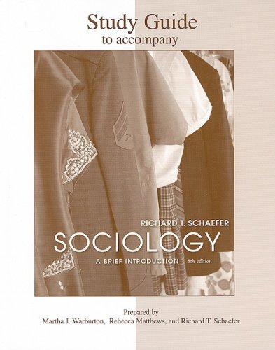 9780077240028: Study Guide to accompany Sociology: A Brief Introduction