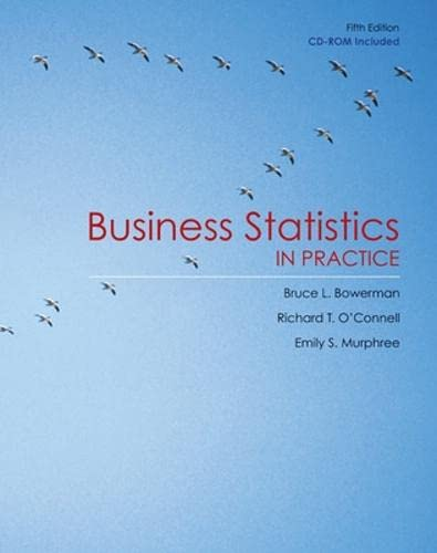 9780077242534: Business Statistics in Practice w/Student CD