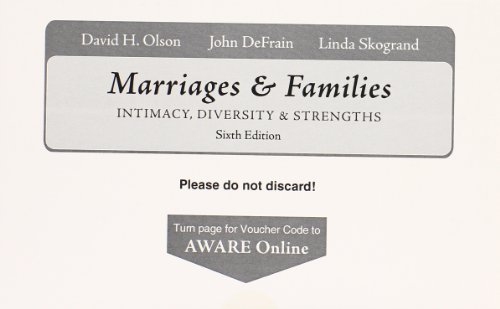 9780077243067: AWARE Inventory for use with Olson's Marriages and Families