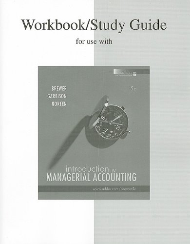 9780077243647: Study Guide/Workbook to accompany Intro to Managerial Accounting