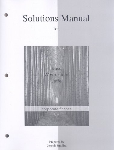 9780077246099: Corporate Finance: Solutions Manual