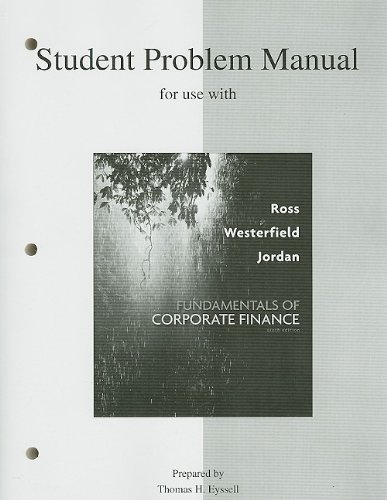 9780077246228: Student Problem Manual to accompany Fundamentals of Corporate Finance