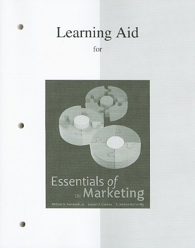 9780077246433: Learning Aid to accompany Essentials of Marketing
