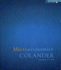 9780077247096: Microeconomics, Homework Manager Edition, 7th Edition
