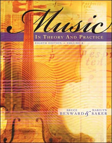 9780077254957: Music in Theory and Practice, Volume 2 with Audio CD