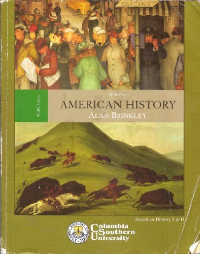 9780077258498: American History: A Survey 12th Edition by Brinkley, Alan [Hardcover]