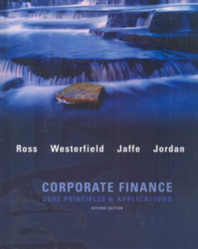 Corporate Finance: Core Applications and Principles w/S&P: Ross, Stephen; Westerfield,