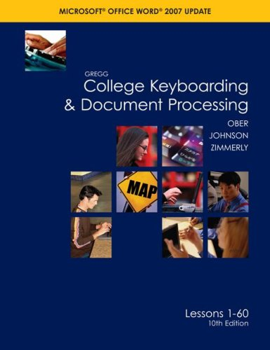 9780077260538: Gregg College Keyboarding & Document Processing (GDP), Word 2007 Update, Kit 1, Lesson 1-60 w/Home Software 2.0