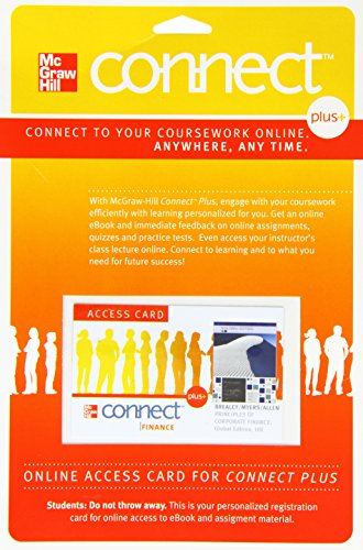 9780077260620: Connect Plus Access Card for Essentials of Corporate Finance