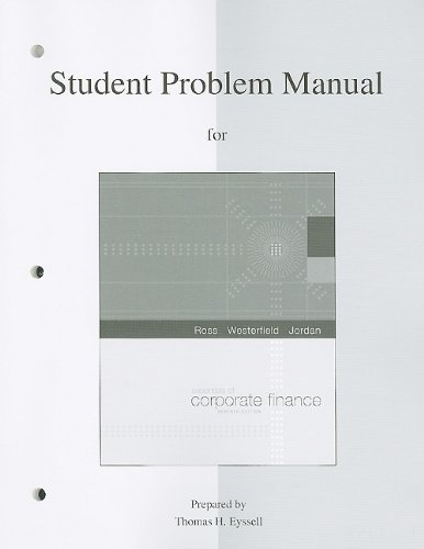 9780077260675: Student Problem Manual to accompany Essentials of Corporate Finance