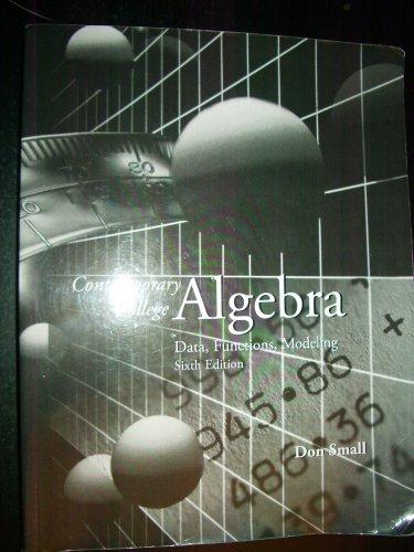 9780077261603: Contemporary College Algebra