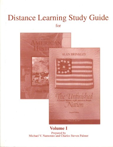 9780077261764: Distance Learning Study Guide for the Unfinished Nation Volume 1 (To 1877)