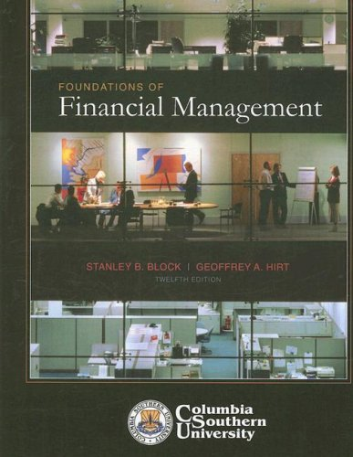 9780077262051: Foundations of Financial Management