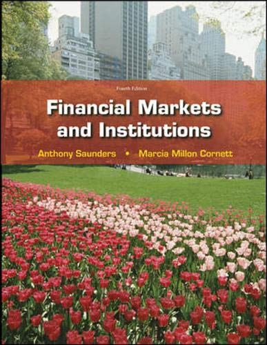 9780077262372: Financial Markets & Institutions w/S&P bind-in card (McGraw-Hill/Irwin Series in Finance, Insurance and Real Estate)