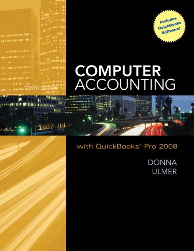 9780077262389: Computer Accounting with QuickBooks Pro 2008 with Student Data Files & QuickBooks Trial Software
