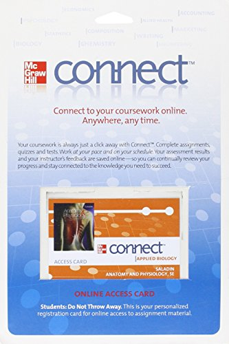 9780077262518: Connect Access Card for Anatomy & Physiology