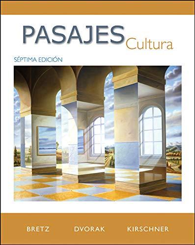 9780077264109: Pasajes: Cultura (Spanish)
