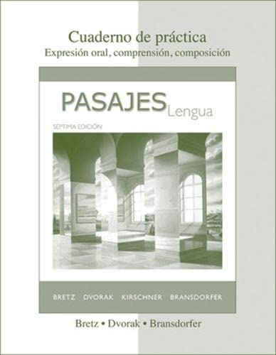 Cuaderno de Practica to Accompany Pasajes : Bretz; Dvorak; B.;