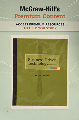 9780077264604: Business Driven Technology Premium Content Card 4th Edition