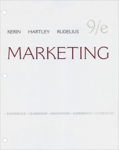 Marketing Loose-leaf Edition: Roger Kerin,Steven Hartley,William
