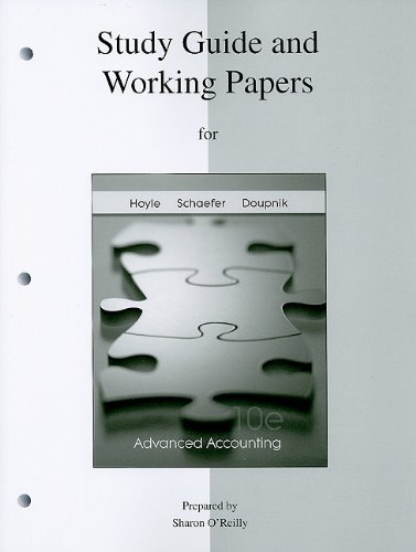 9780077268046: Study Guide & Working Papers to accompany Advanced Accounting