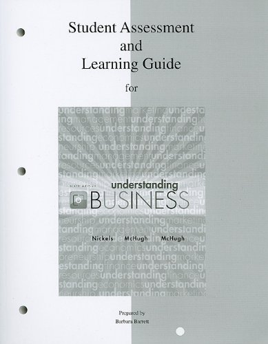 9780077268428: Student Assessment & Learning Guide to accompany Understanding Business