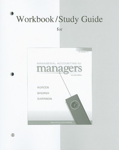 9780077268589: Workbook/Study guide for Managerial Accounting for Managers